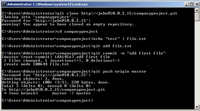 Getting Started   GitStack