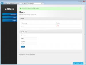 create user gitstack