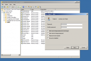 new user git active directory