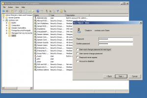 new user git active directory