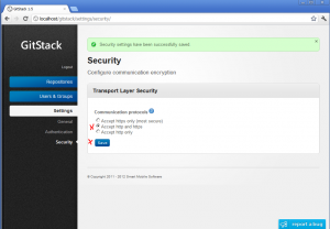 click on accept ssl
