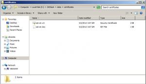 Copy your ssl certificates